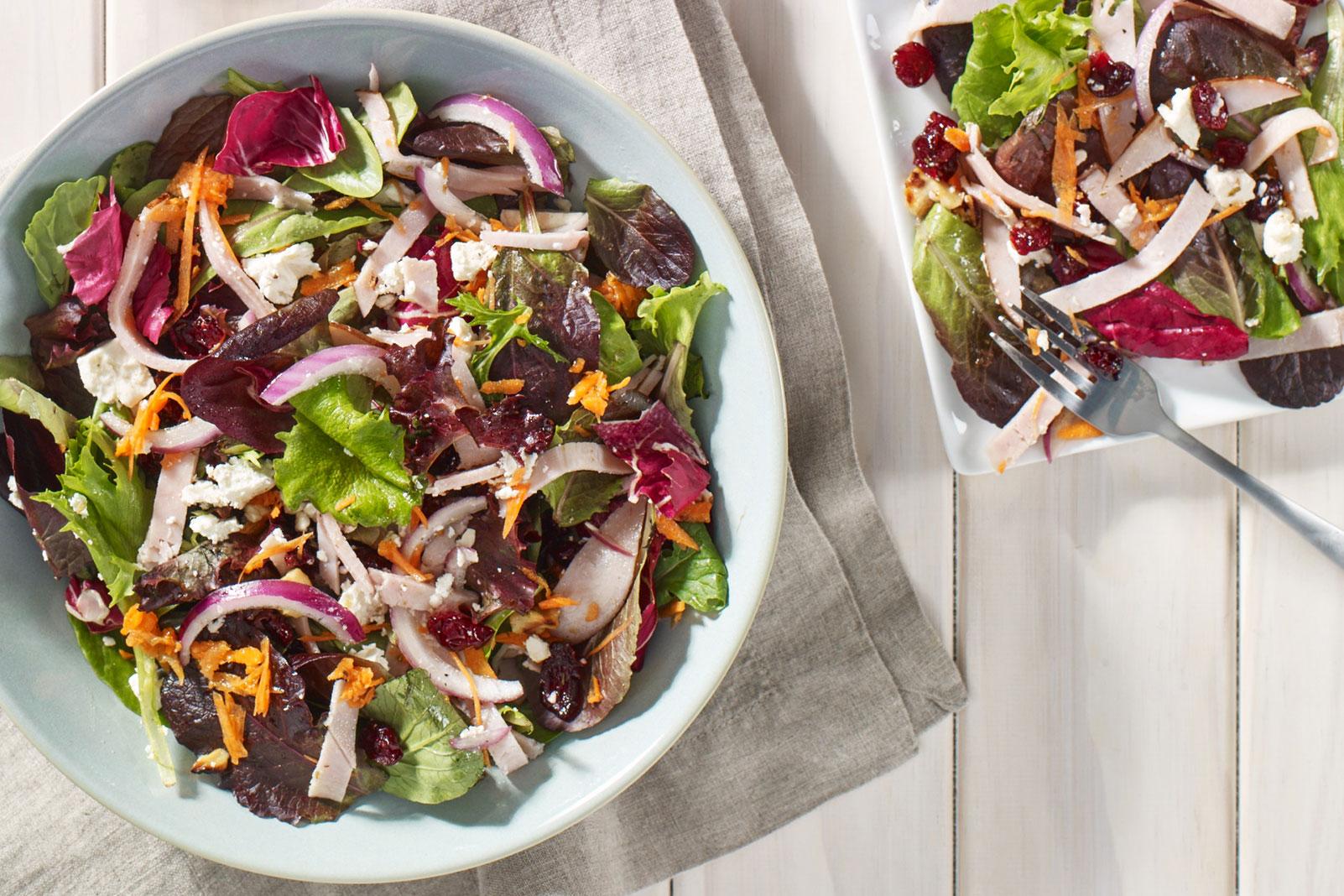 Turkey Cranberry and Feta Salad
